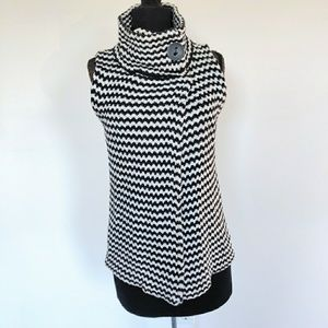 Chico's Funnel Neck Knit Vest Cardign Sweater S